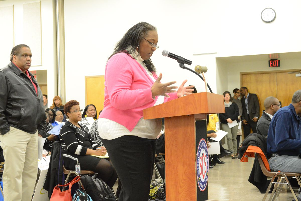 Parent Juanita Patton was one of several charter school supporters to testify in favor of a collaboration agreement between Shelby County Schools and Memphis's charter sector during a board meeting Tuesday. The Shelby County Schools board approved the agreement.