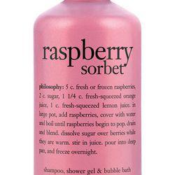 "<a href=""http://shop.nordstrom.com/s/philosophy-raspberry-sorbet-shampoo-shower-gel-bubble-bath-buy-save/3326561?origin=category&BaseUrl=Beauty+Exclusives"">Philosophy Raspberry Sorbet Shampoo, Shower Gel, and Bubble Bath:</a> $7.50"