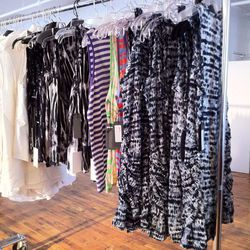 """Also spotted: dresses <a href=""""http://www.mizhattan.com/2011/07/sample-sale-proenza-extravaganza.html"""">snapped</a> by Mizhattan last year."""