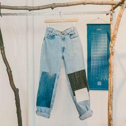 Ace & Jig x B Sides patchwork jeans, $245