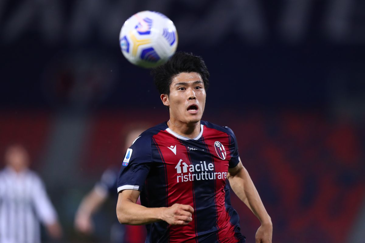 Takehiro Tomiyasu of Bologna Fc in action during the Serie...