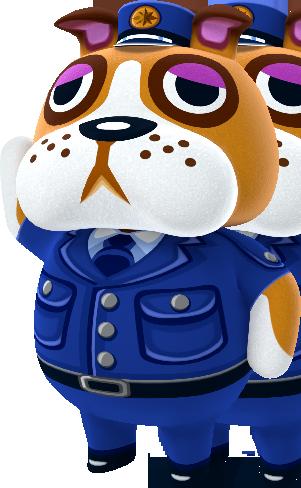 a dog wearing a cop's uniform