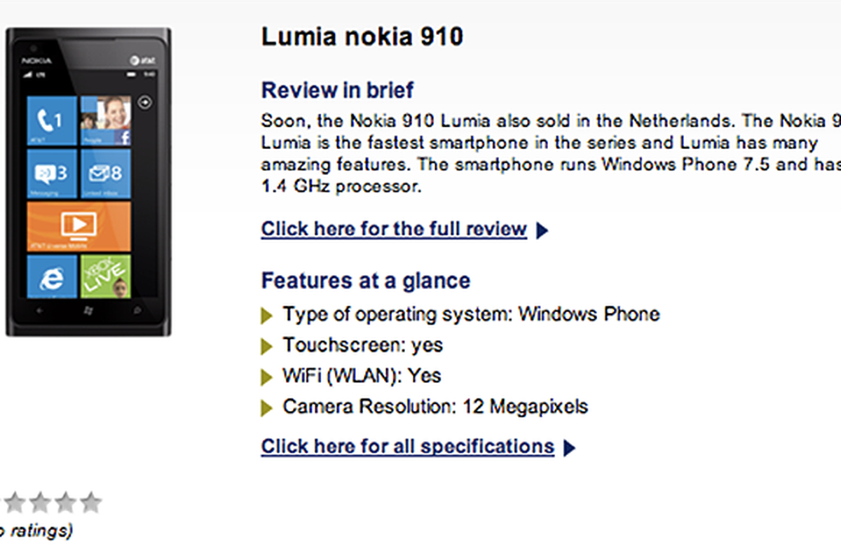 Nokia Lumia 910 Typhone