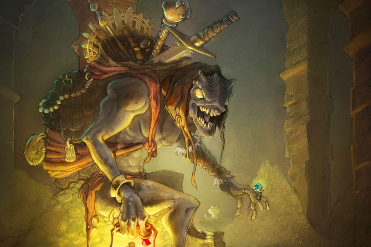 Concept art of the Treasure Goblin from Diablo 3.