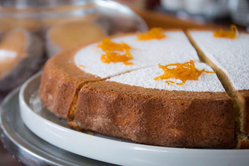 ricotta cake with orange zest