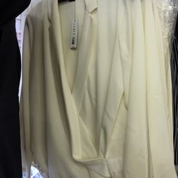 Ivory long-sleeved blouse, $89 (was $285)