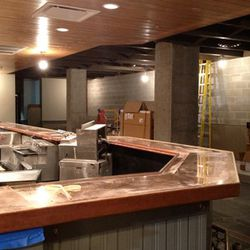 The back wall of the bar will feature photography by Jeff Kauck
