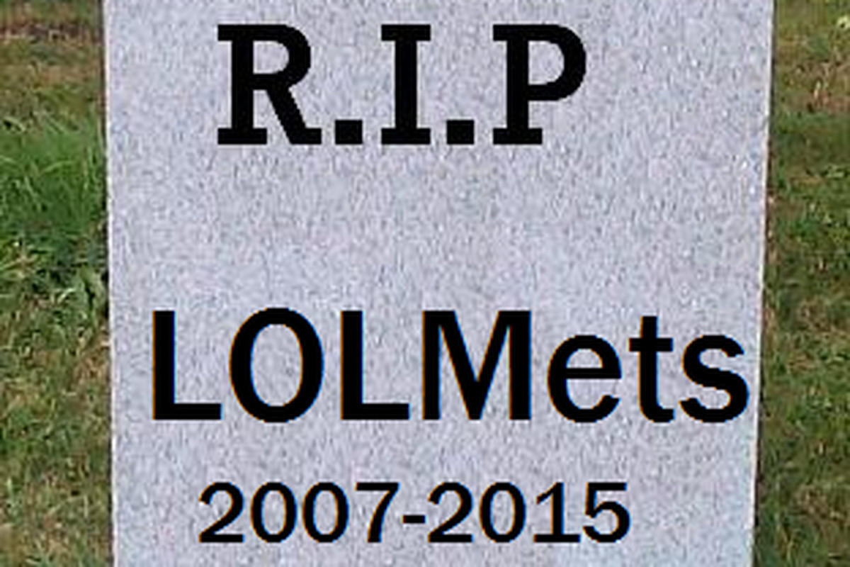 Here lies the end of an era, one none of us will miss