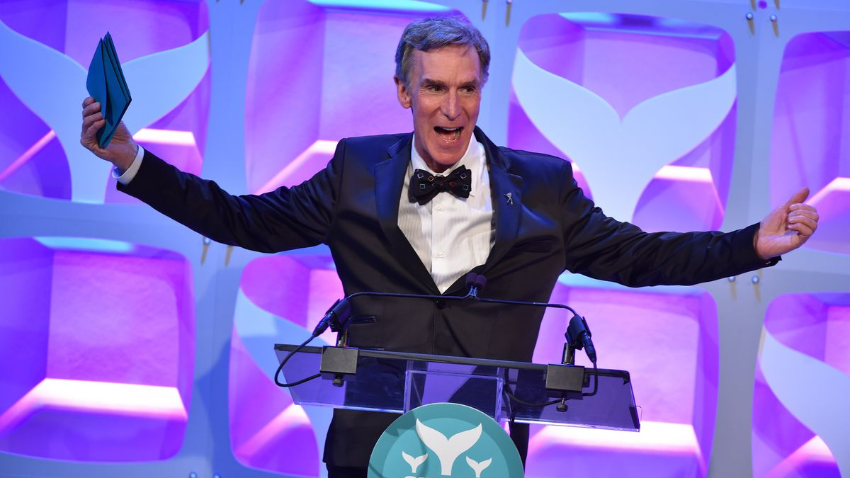 Bill Nye speaks at the Shorty Awards in April, 2015. (Noam Galai/Getty Images)