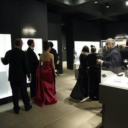 Guests browsing Bowers Museum for the unveiling.