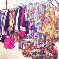 More of Joyrich's technicolor spring offerings inspired by the '60s pop-art movement.