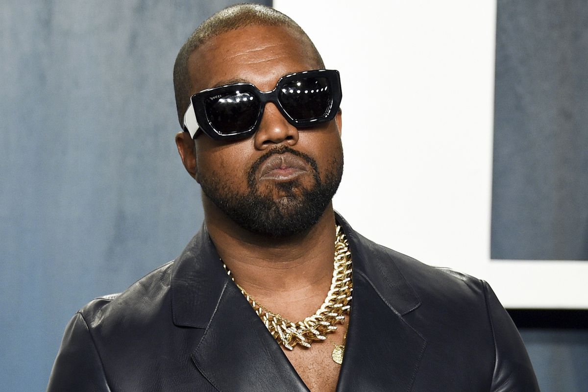 """Kanye West arrives at the Vanity Fair Oscar Party in Beverly Hills in 2020. The artist, soon to be known at """"Ye,"""" was in Chicago on Thursday night delivering his third """"Donda"""" listening event, in this case at Soldier Field."""