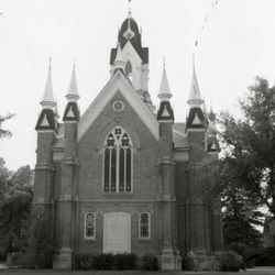 The Summit Stake Tabernacle, a sister building to the Assembly Hall, was built in 1883 and razed in 1970 amid considerable opposition.