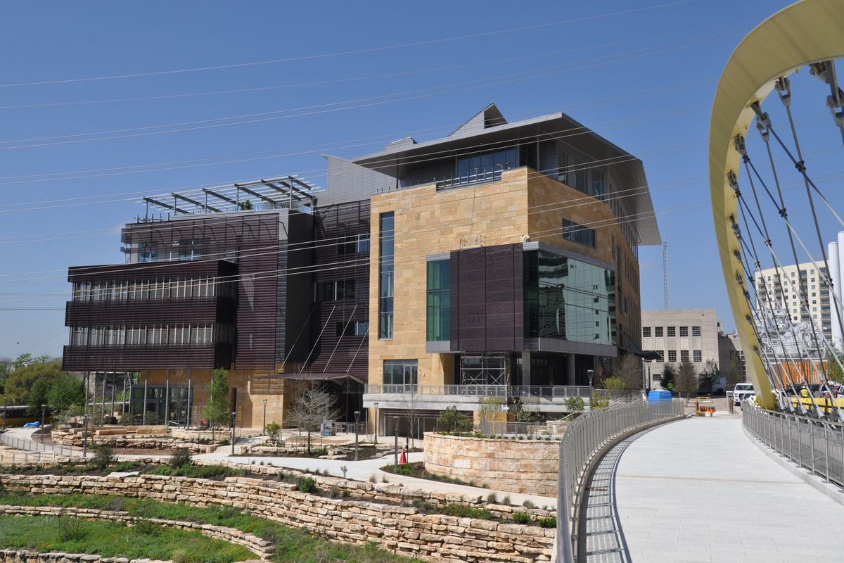 New limestone and glass library