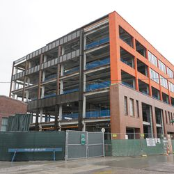 The new plaza building, from Waveland and Seminary