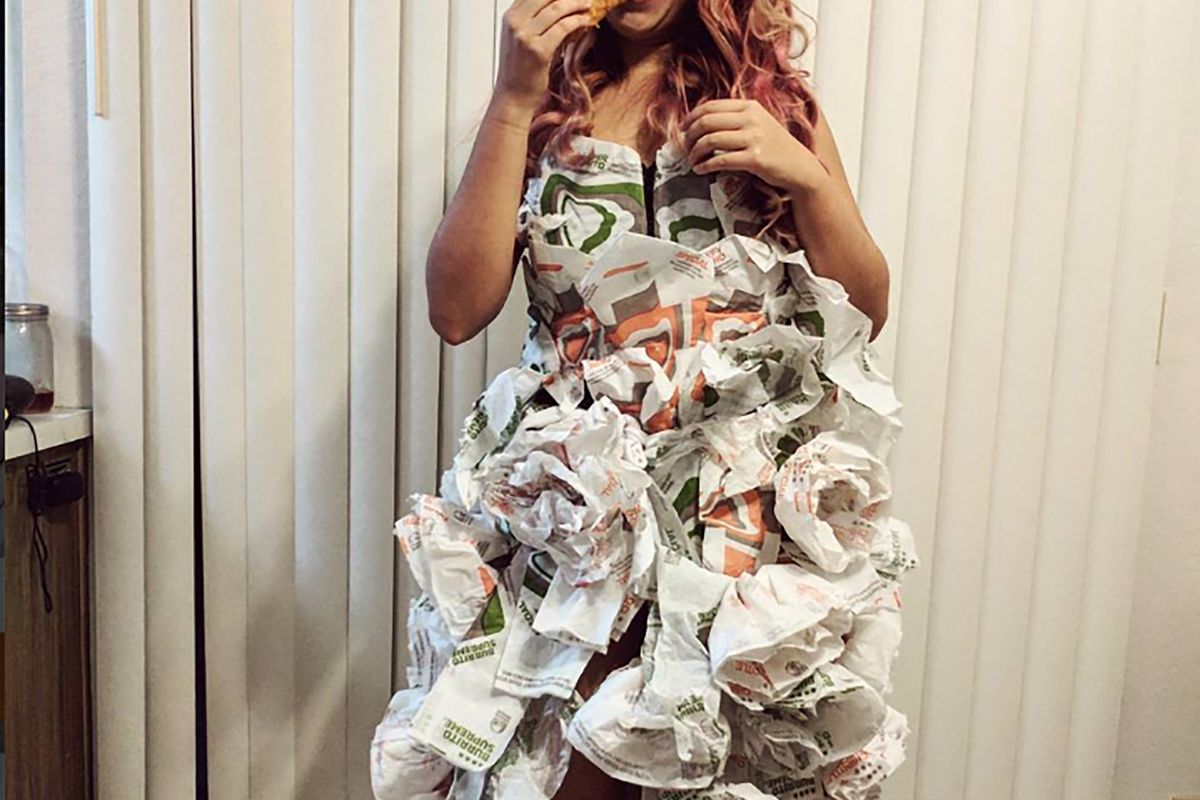 Bride-to-Be Makes Impressive Taco Bell Wedding Dress - Eater