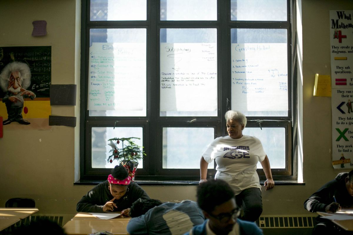 June 2019 file photographs made at Southeastern High School in Detroit by freelancer Anthony Lanzilote.