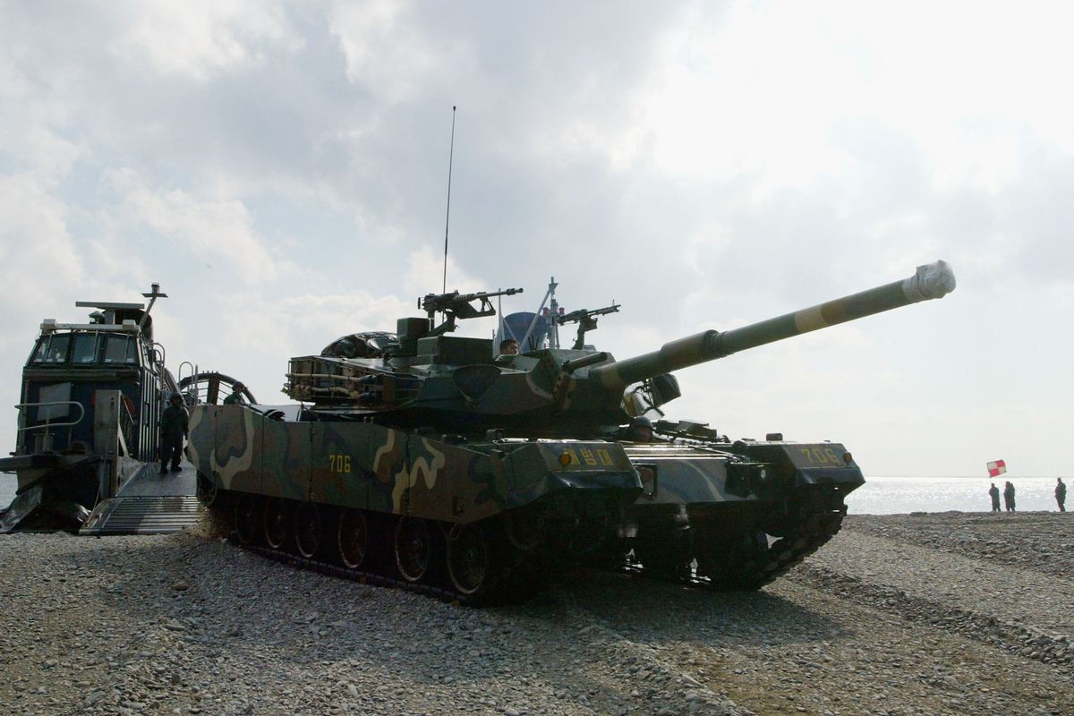 South Korean Marines Engage in Live Fire Training With U.S