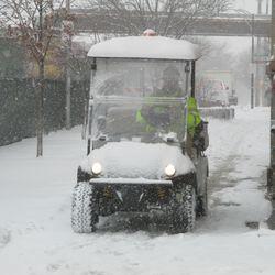 Contractor's cart on Waveland -