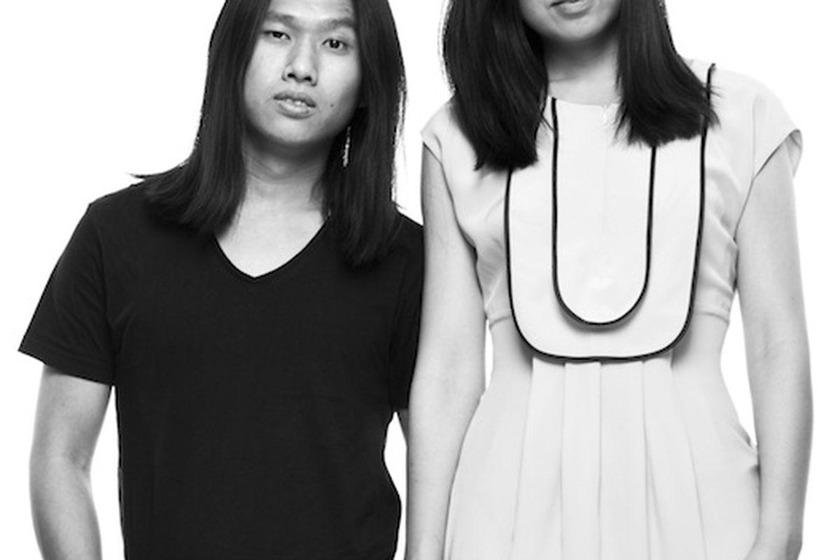Dawei Sun, left, and Ling Liu; Photo courtesy of Cacharel