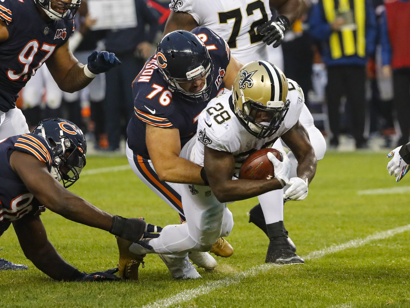 Bears hope to minimize pain of Eddie Goldman absence