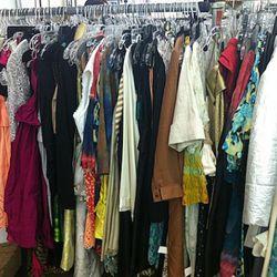 A jumble of designer womenswear