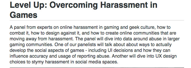 sxsw panel harassment
