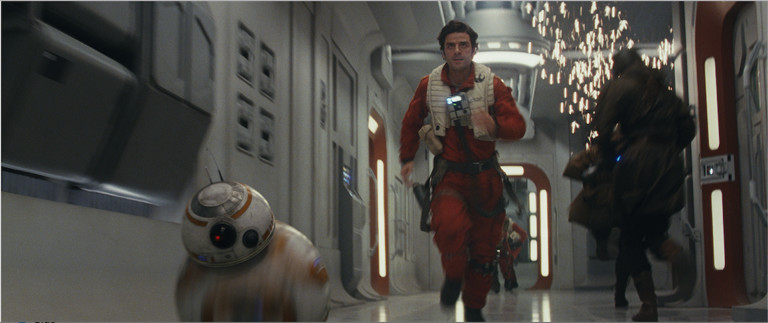 """Poe and BB-8 in a scene from the upcoming """"Star Wars: The Last Jedi.""""   DISNEY"""