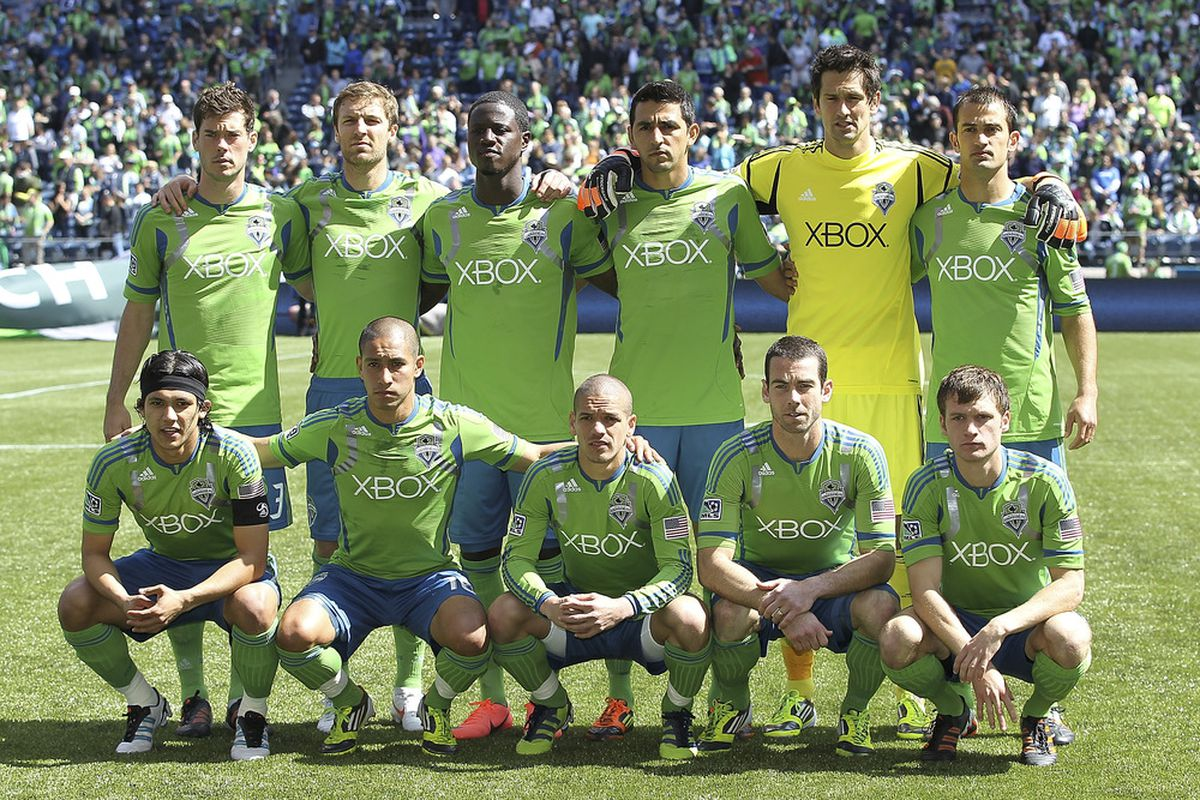 Last Saturday's Seattle lineup won.  But how are the team's early season injuries impacting our ability to gauge how good the 2012 team really is against the rest of the MLS? (Photo by Otto Greule Jr/Getty Images)