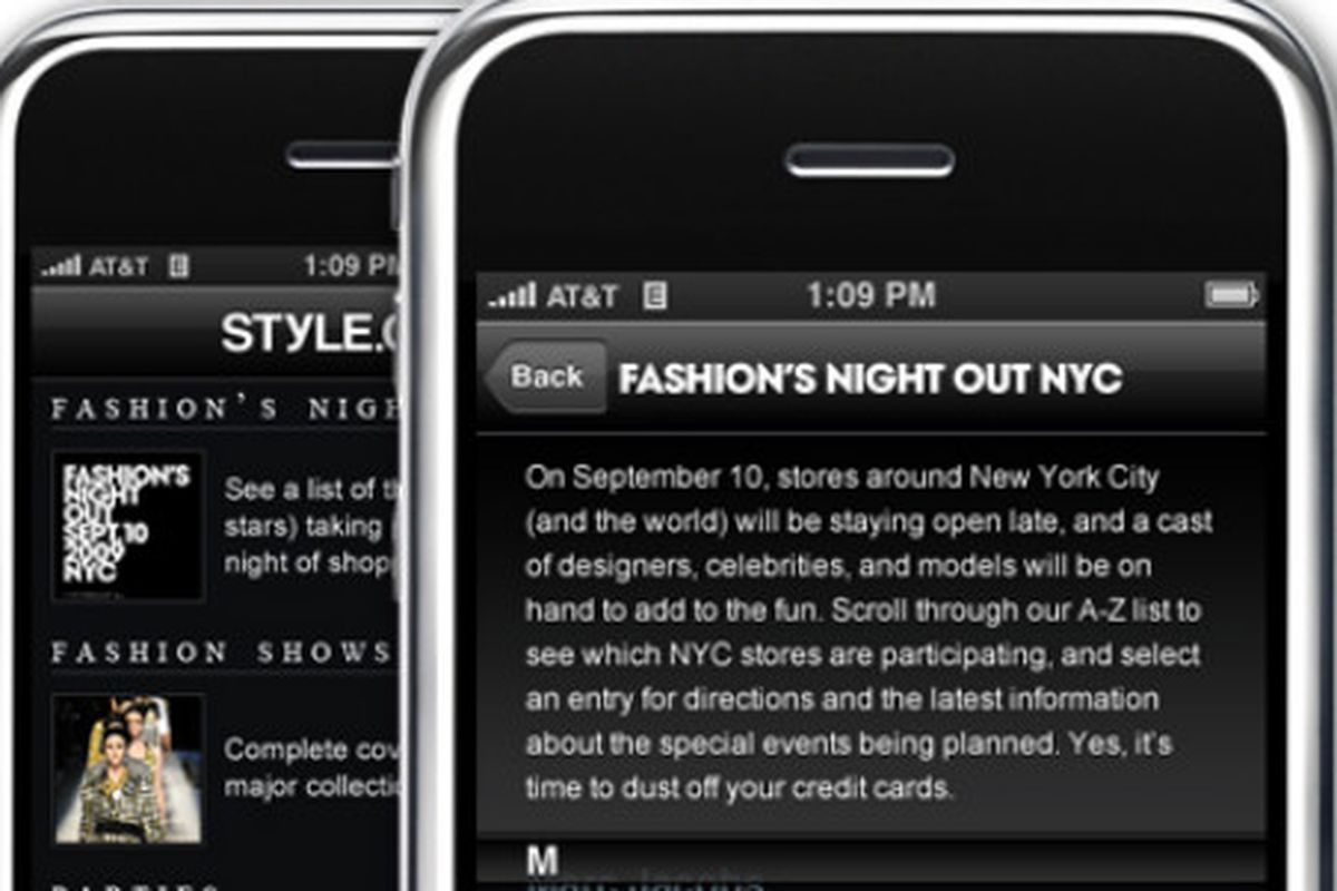 "Image via <a href=""http://www.style.com/stylefile/2009/09/stylecom-takes-fashions-night-out-digital/"">Style.com</a>"