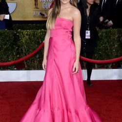 Lea Michele, a bright spot on the red carpet in Valentino. Also, ombre's back?