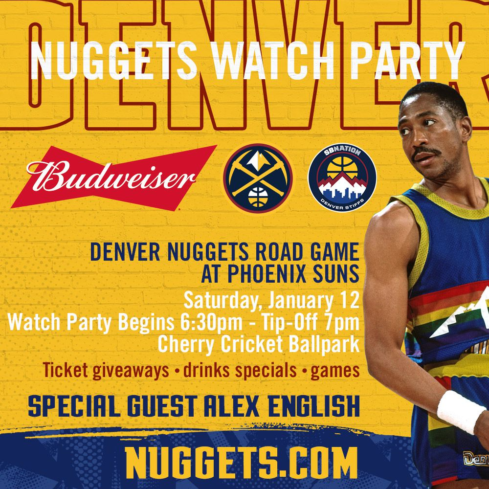 Denver Nuggets Reddit: Denver Nuggets Watch Party, With Special Guest Alex