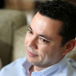 Rep. Jason Chaffetz, R-Utah, talks about his resignation at his home in Alpine on Thursday, May 18, 2017.