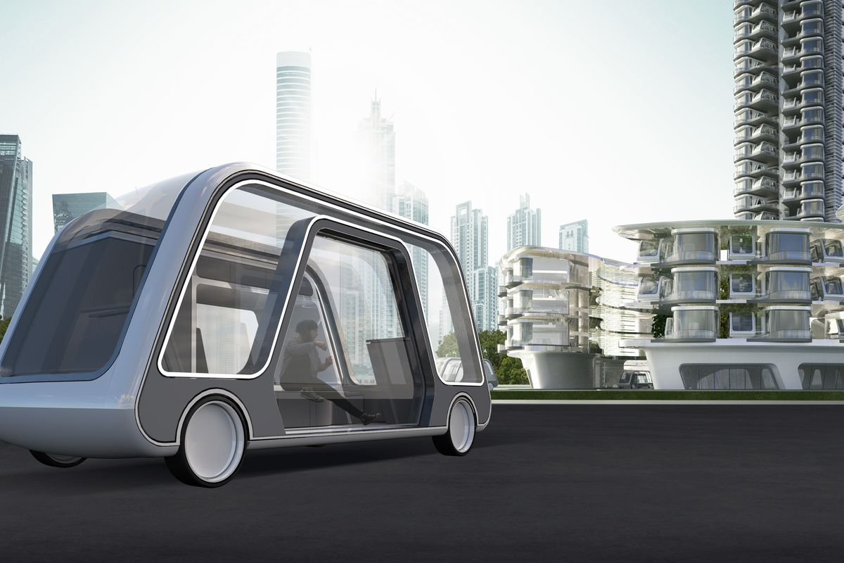 Self-driving car is actually a tiny hotel suite on wheels