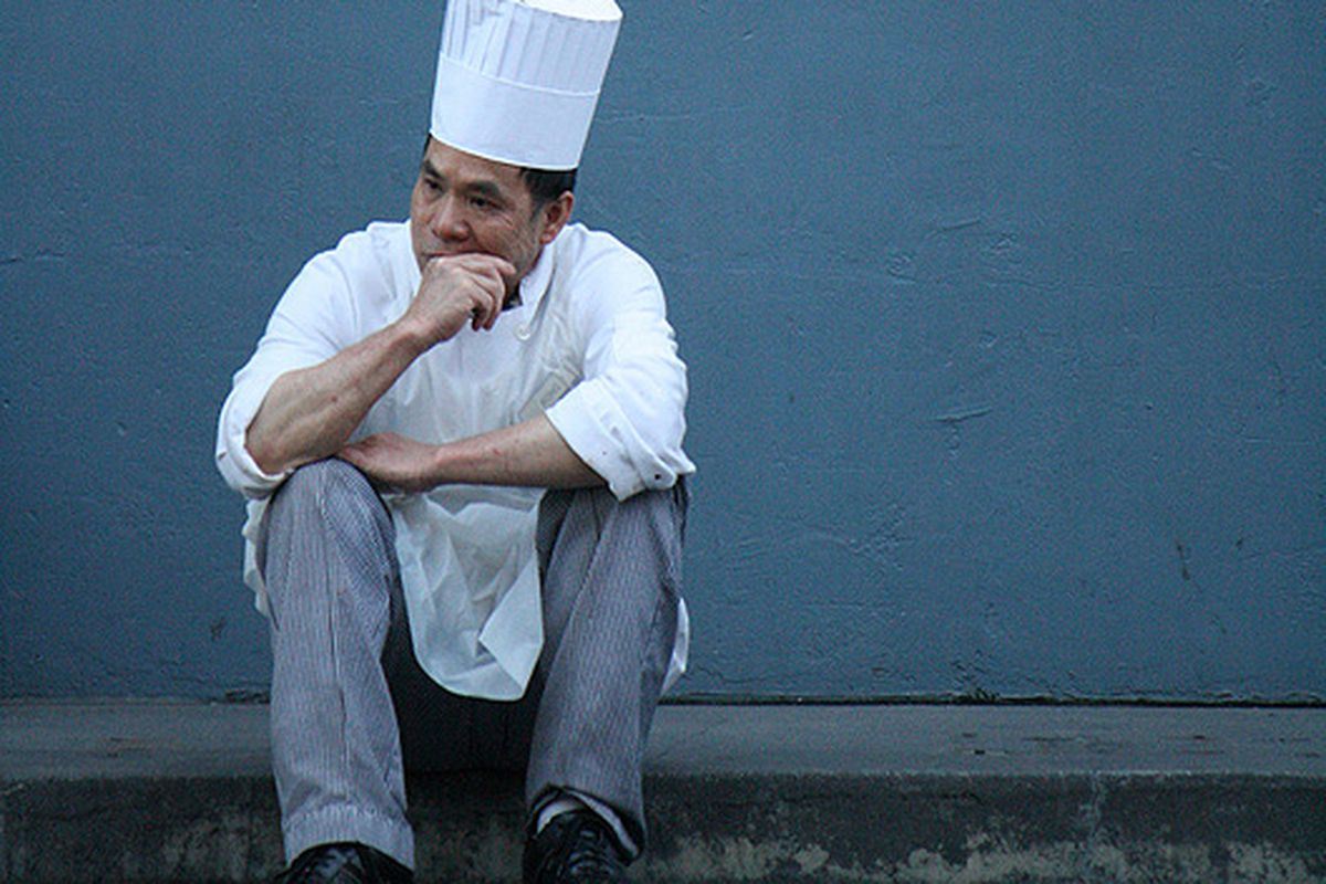 The lonely chef.
