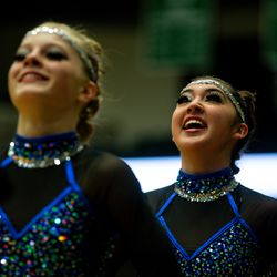 Enterprise High School's drill team performs during the 2A state drill team finals at the UCCU Center at Utah Valley University in Orem on Friday, Jan. 31, 2020.