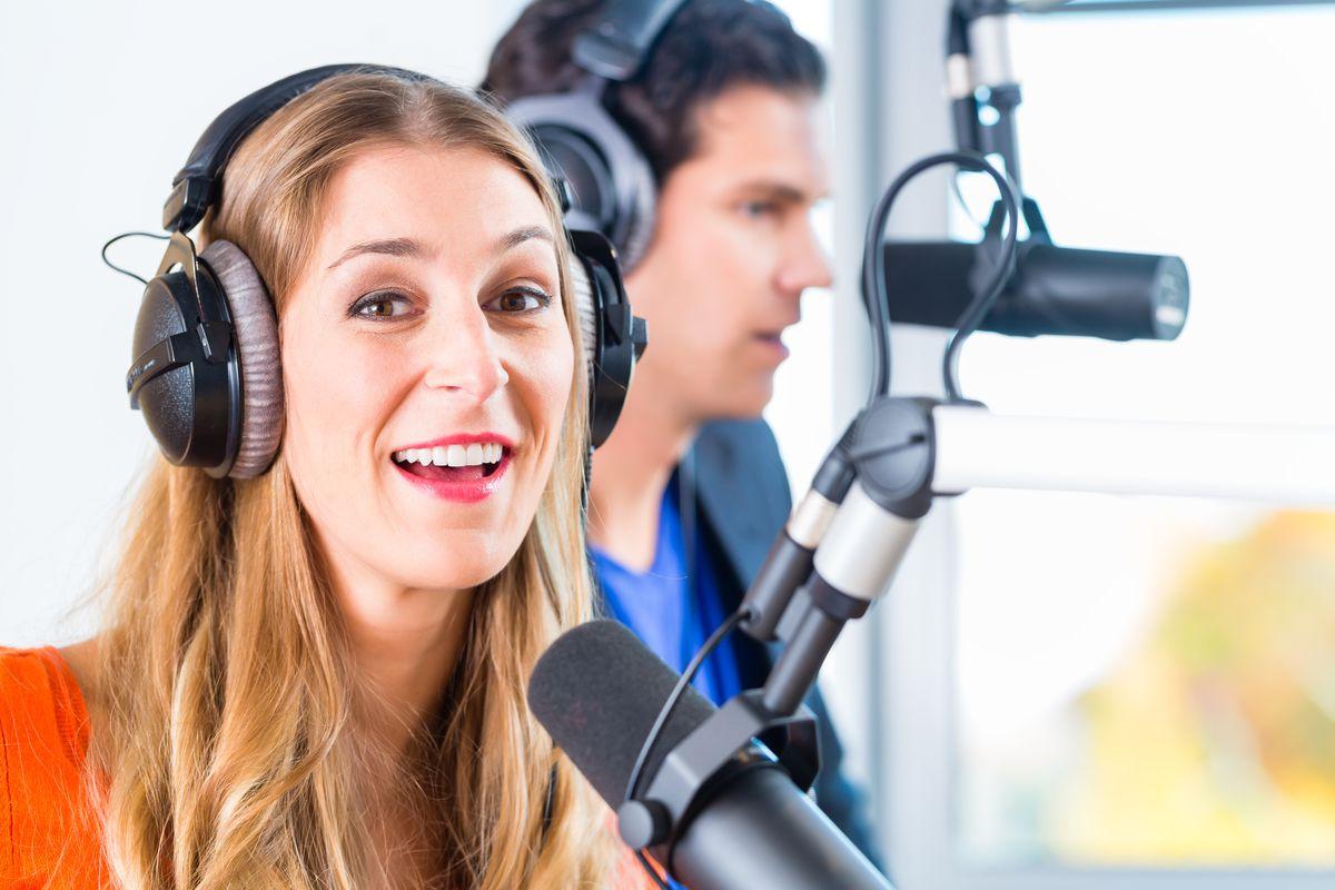 Recording radio podcast