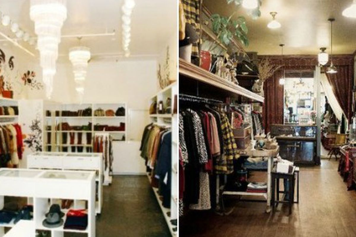 """Amarcord Vintage, left, via <a href=""""http://www.timeout.com/newyork/shopping/amarcord-vintage-fashion-1"""">Time Out</a>; In God We Trust via <a href=""""http://www.heyheygorgeous.com/businesses/in-god-we-trust-soho"""">Hey Hey Gorgeous</a>"""