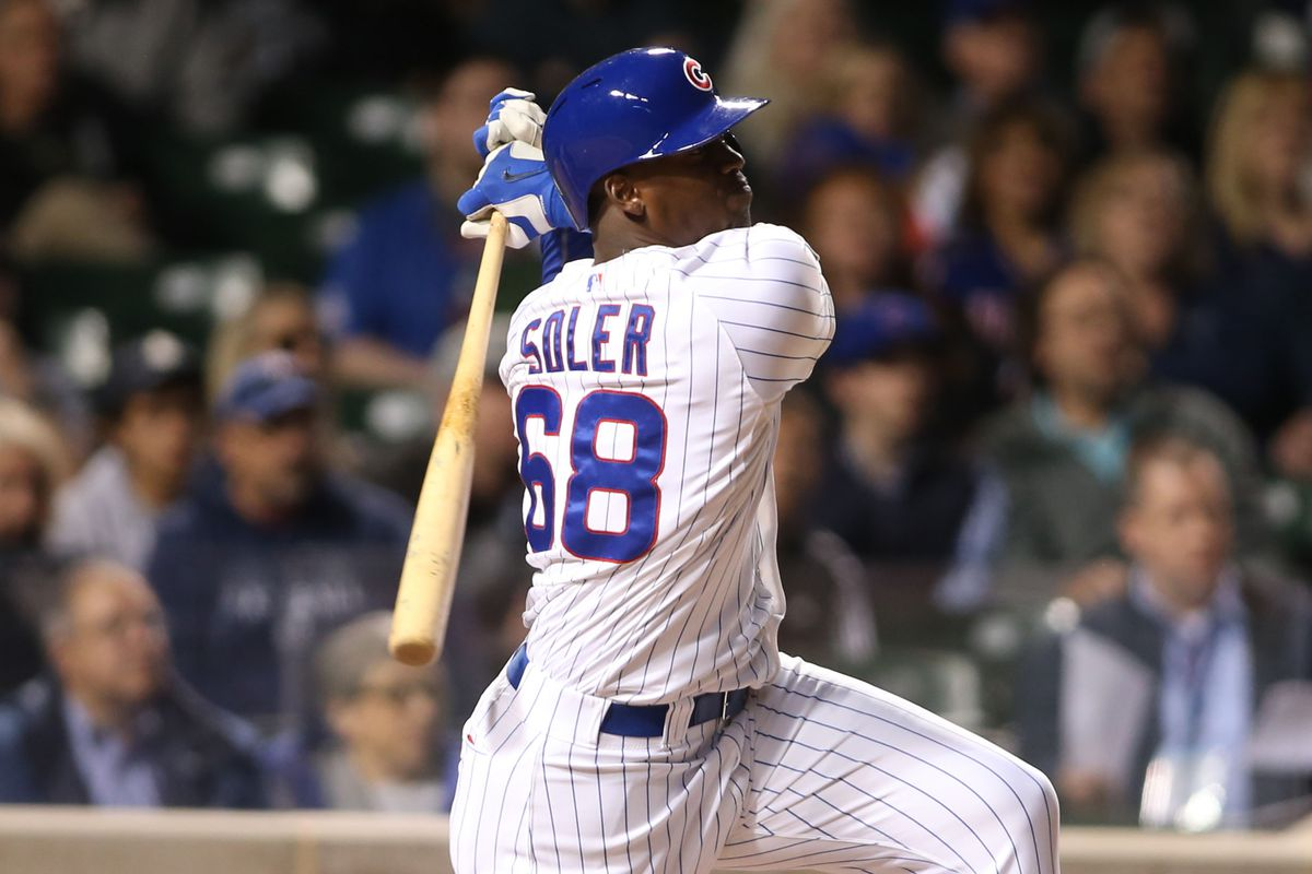 You don't run on Jorge Soler! And you shouldn't throw him something he can hit either!