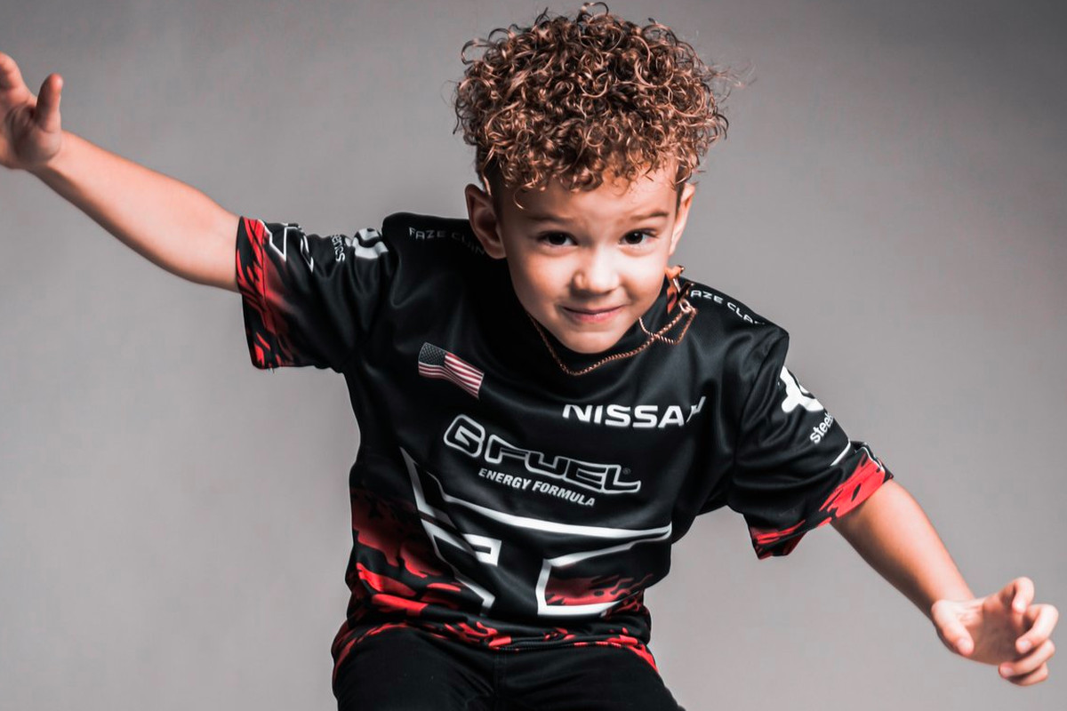 RowdyRogan, a 6-year-old Call of Duty player, jumps in the air
