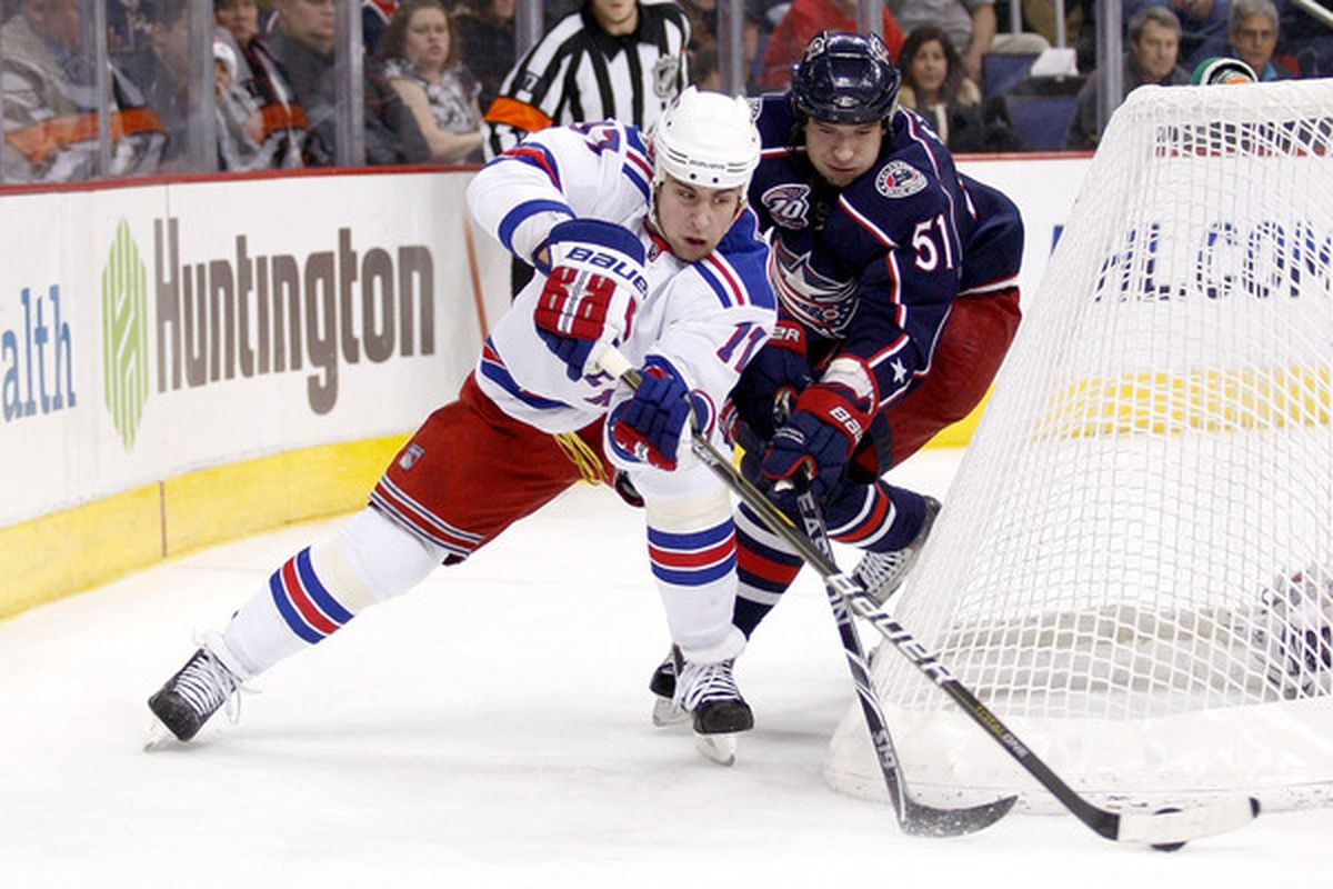 Used to battling for the puck in John Tortorella's system, we had to know how Dubi is likely to adjust to Columbus. (Photo by John Grieshop/Getty Images)