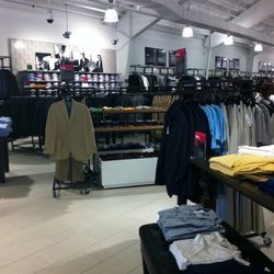 A view of the menswear section