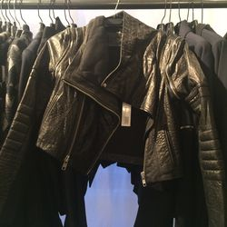 Leather jacket, size 4, $475 (was $1,990)