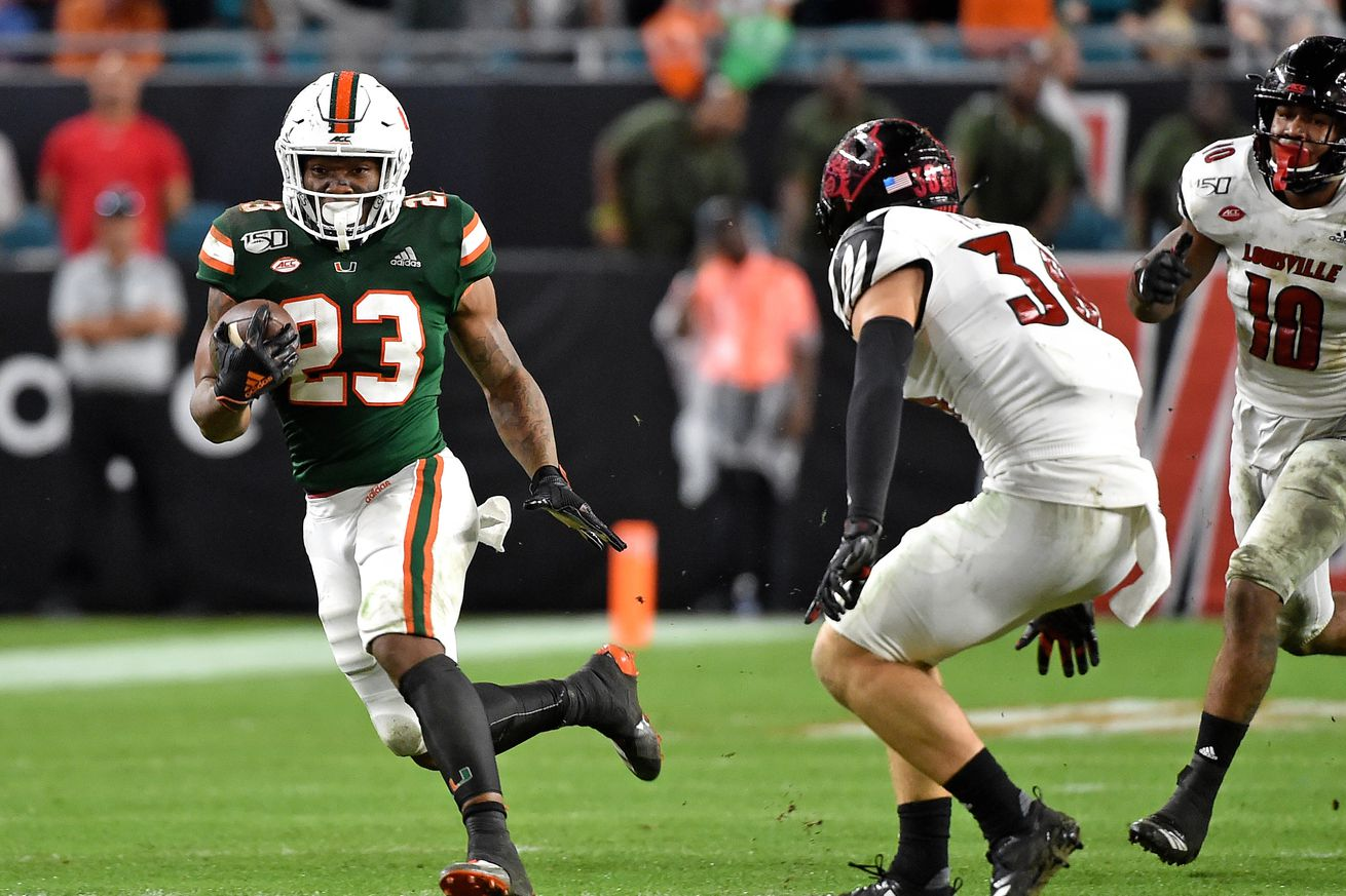 NCAA Football: Louisville at Miami