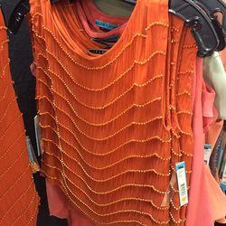 Orange beaded top, $119 (was $330)