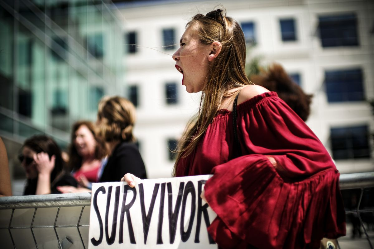 ... New Jersey, protests outside as Education Secretary Betsy DeVos  announces changes in federal policy on rules for investigating sexual  assault reports on ...