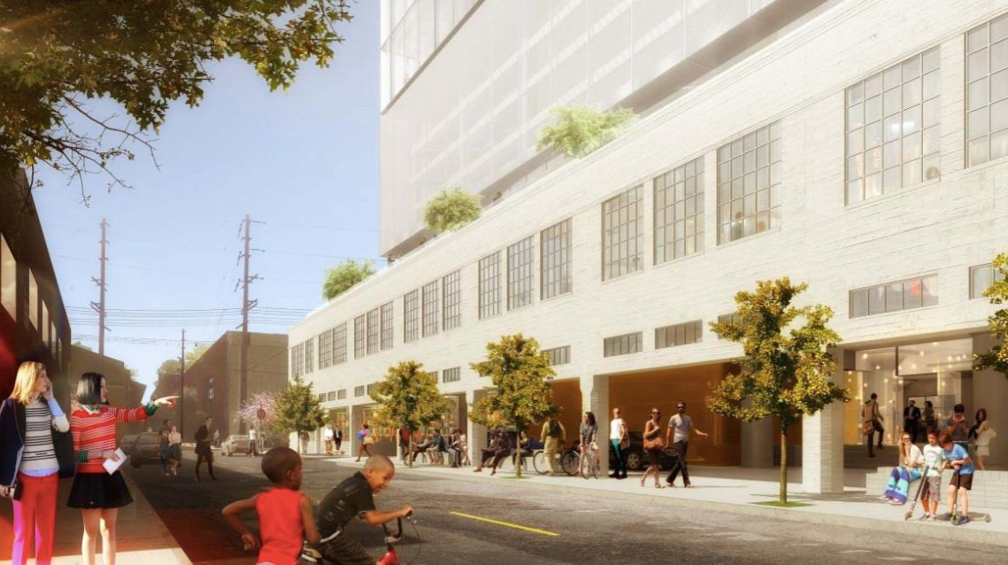 Rendering of ground floor retail space