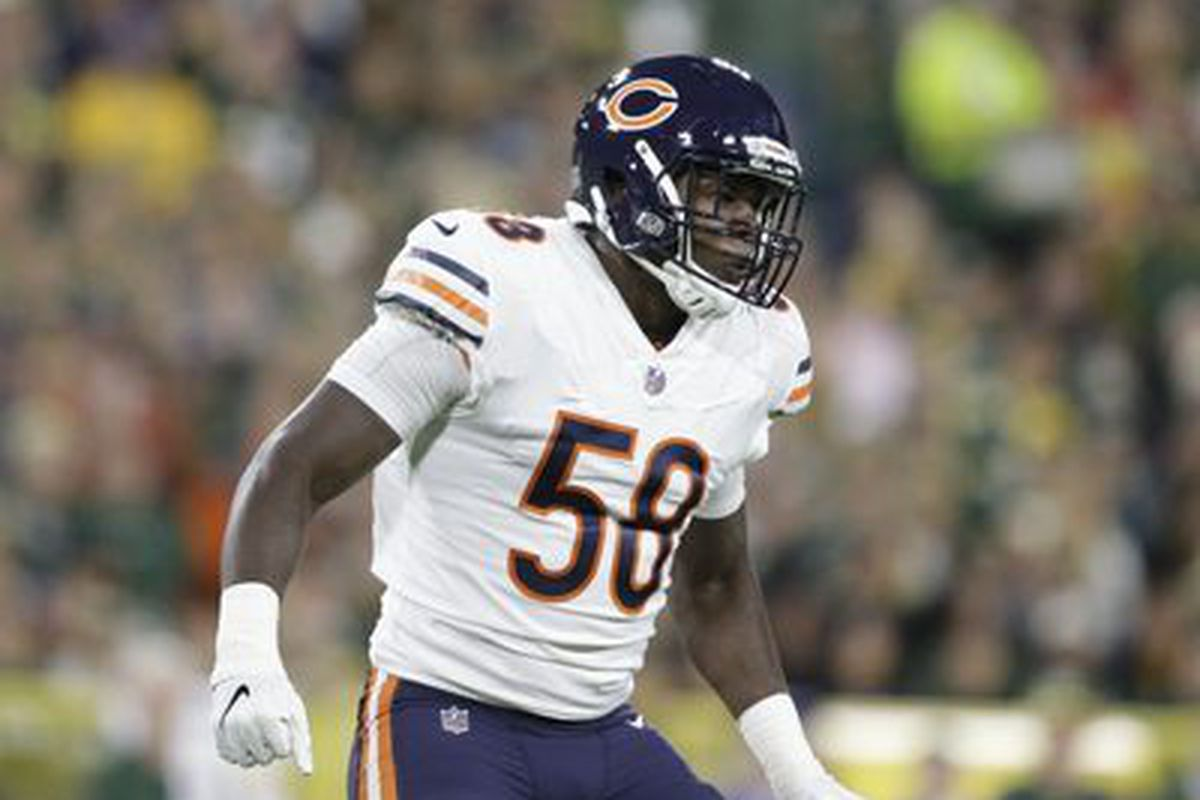 buy popular 70f6f fde45 Bears first-round pick Roquan Smith makes 1st career ...