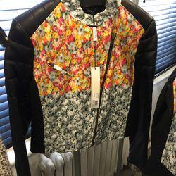 Flower print jacket, $500