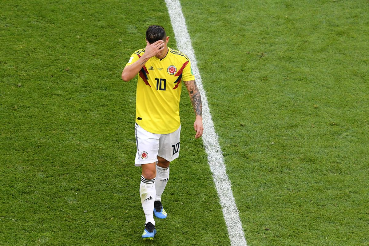 quality design 35180 27dd5 James Rodriguez leaves match against Senegal injured ...